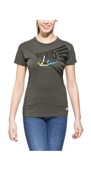 Edelrid Gearleader - Camiseta manga corta Mujer - gris